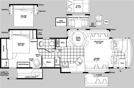 Floorplan - 2006 Itasca Horizon 40KD