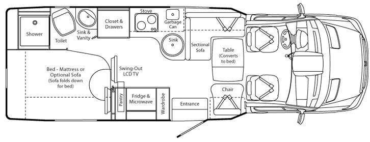 Floorplan - 2012 Leisure Travel Serenity Serenity Floorplan
