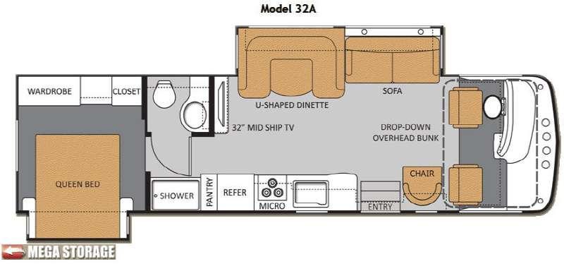 Floorplan - 2013 Thor Motor Coach Hurricane 32A