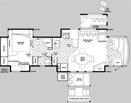 Floorplan - 2006 Itasca Ellipse 40FD