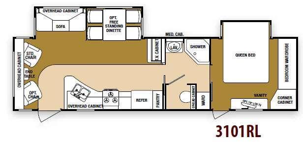 Floorplan - 2013 SunnyBrook Raven 3101RL