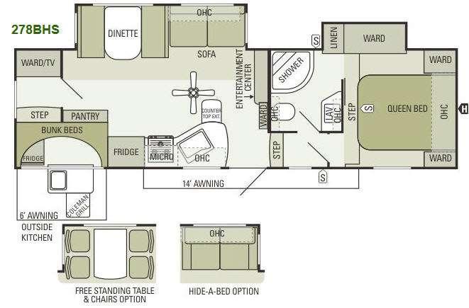 Floorplan - 2013 Starcraft  Travel Star 278BHS