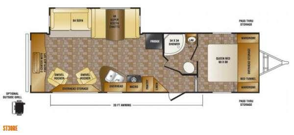 Floorplan - 2013 CrossRoads RV Sunset Trail Reserve ST30RE