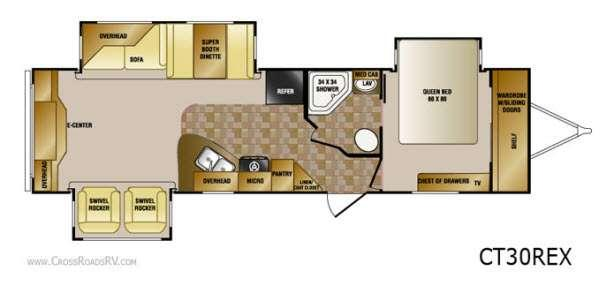 Floorplan - 2013 CrossRoads RV Cruiser CT30REX