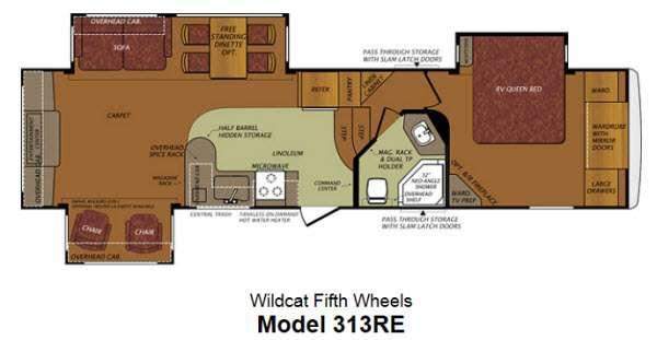 Floorplan - 2013 Forest River RV Wildcat 313RE