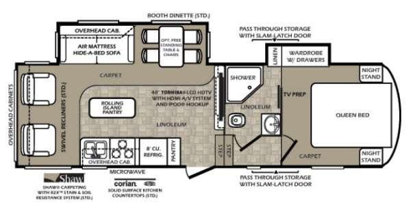Floorplan - 2013 Forest River RV Wildcat extraLite 272RLX