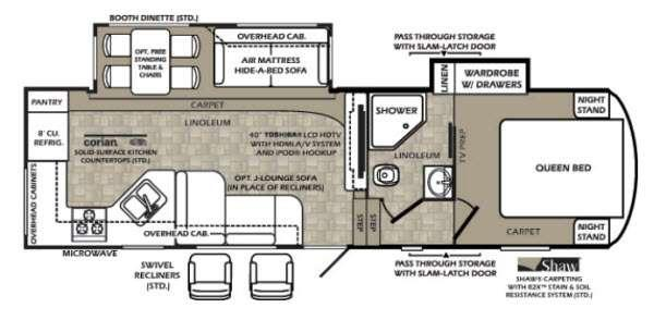 Floorplan - 2013 Forest River RV Wildcat extraLite 282RKX
