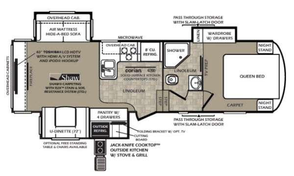 Floorplan - 2013 Forest River RV Wildcat extraLite 293REX