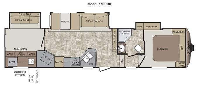 Floorplan - 2013 Keystone RV Cougar 330RBK