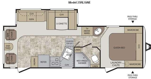 Floorplan - 2013 Keystone RV Cougar Half-Ton Series 25RLSWE