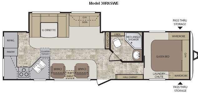 Floorplan - 2013 Keystone RV Cougar Half-Ton Series 30RKSWE