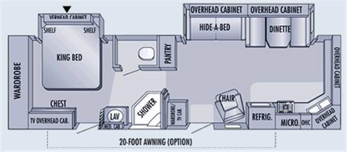 Floorplan - 2006 Jayco Eagle 322FKS