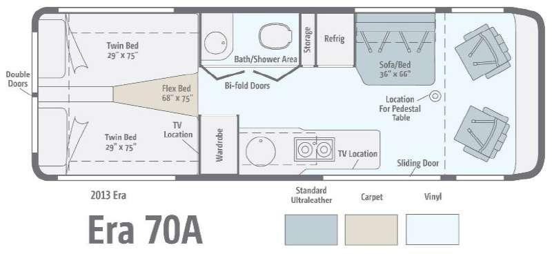 Floorplan - 2013 Winnebago Era 70A