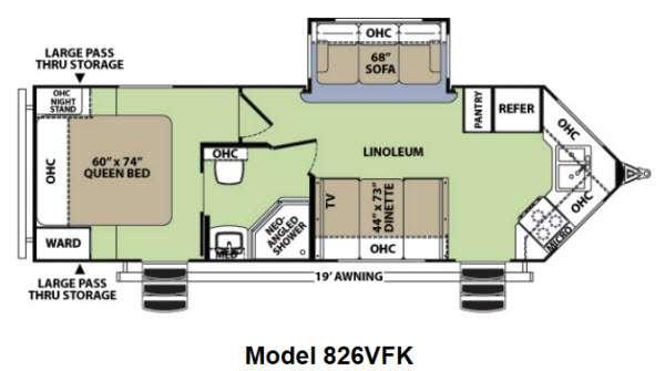 Floorplan - 2013 Forest River RV V-Cross Vibe 826VFK