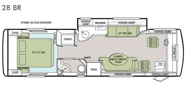 Floorplan - 2013 Tiffin Motorhomes Allegro Breeze 28 BR