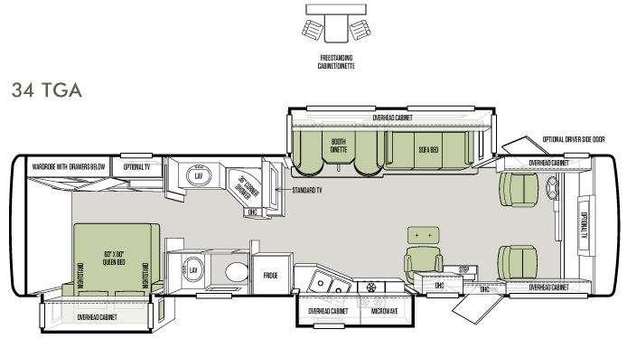 Floorplan - 2013 Tiffin Motorhomes Allegro 34 TGA