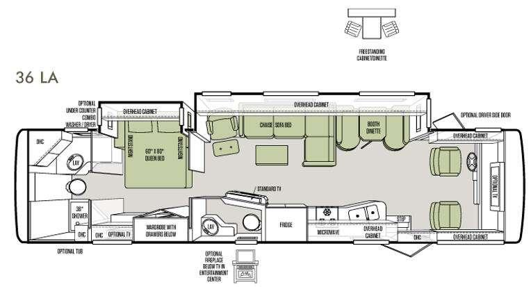 Floorplan - 2013 Tiffin Motorhomes Allegro 36 LA