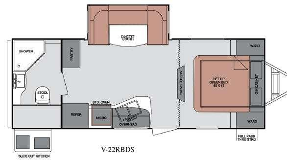 Floorplan - 2013 ViewFinder Signature V-22RBDS Travel Trailer