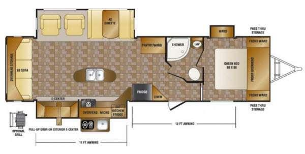 Floorplan - 2013 CrossRoads RV Hill Country HCT32RL