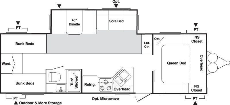 Floorplan - 2006 Keystone RV Springdale 298BHLGL