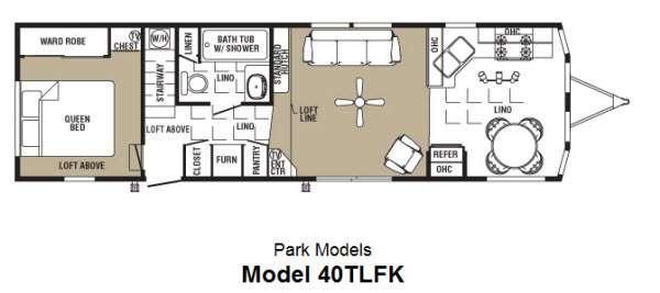 Floorplan - 2013 Forest River RV Summit 40TLFK