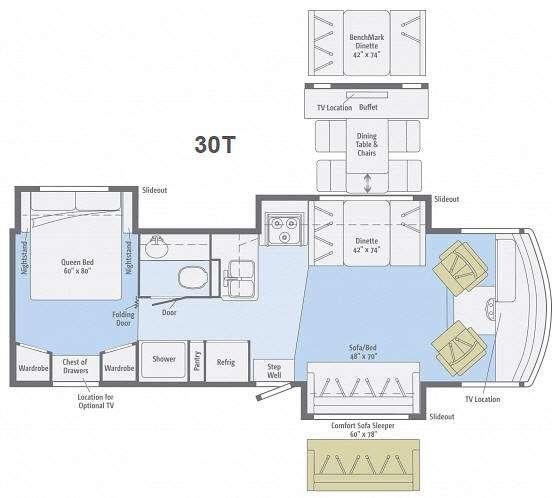 Floorplan - 2013 Winnebago Vista 30T