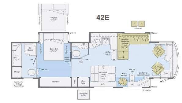 Floorplan - 2013 Winnebago Journey 42E