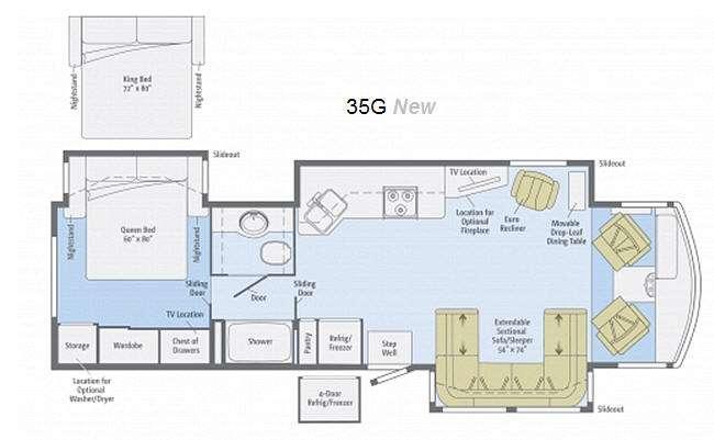 Floorplan - 2013 Winnebago Sightseer 35G