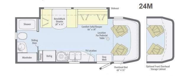 Floorplan - 2013 Winnebago View 24M