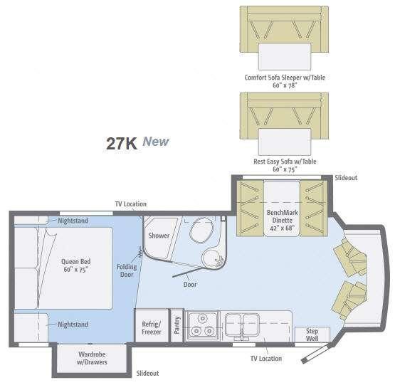 Floorplan - 2013 Winnebago Aspect 27K