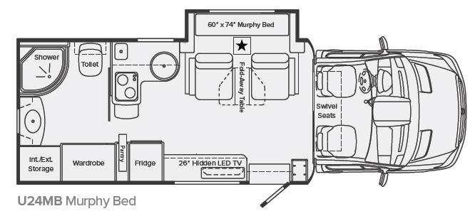 Floorplan - 2013 Leisure Travel Unity U24MB