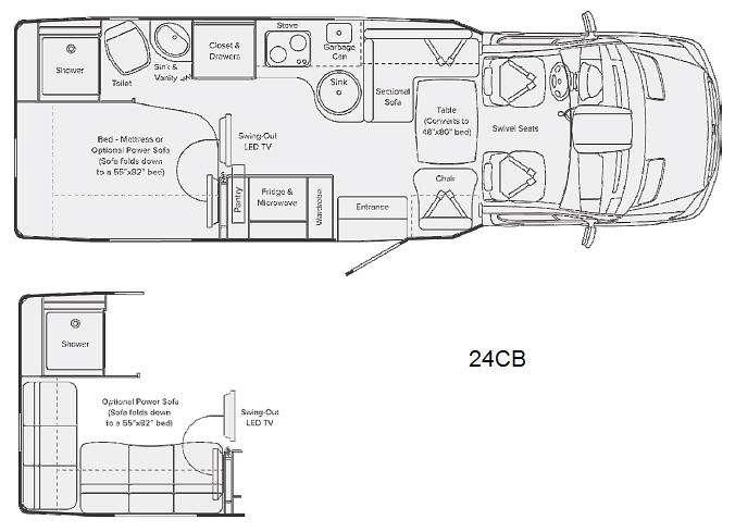 Floorplan - 2013 Leisure Travel Serenity 24CB