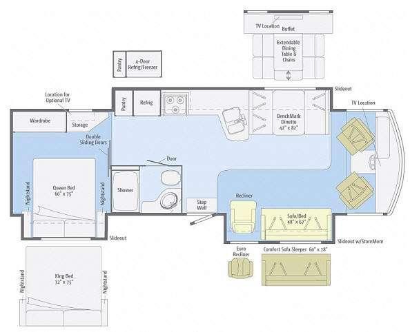 Floorplan - 2013 Itasca Sunova 33C