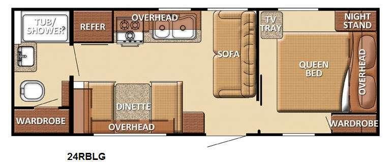 Floorplan - 2013 Gulf Stream RV Kingsport 24 RBLG