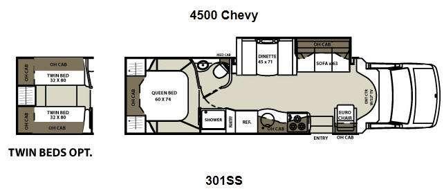 Floorplan - 2013 Coachmen RV Concord 301SS Chevy