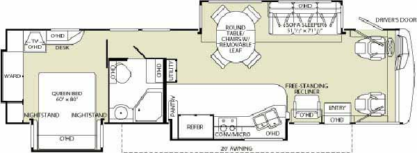 Floorplan - 2006 Fleetwood RV Pace Arrow 37C