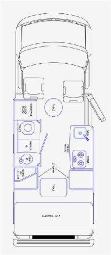 Floorplan - 2013 Pleasure-Way Excel TS