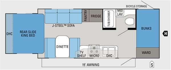 Floorplan - 2013 Jayco Jay Feather Ultra Lite X213