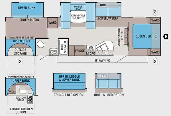 Floorplan - 2013 Jayco Jay Flight 32BHDS