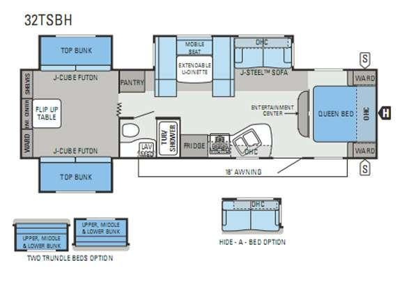 Floorplan - 2013 Jayco Jay Flight 32TSBH