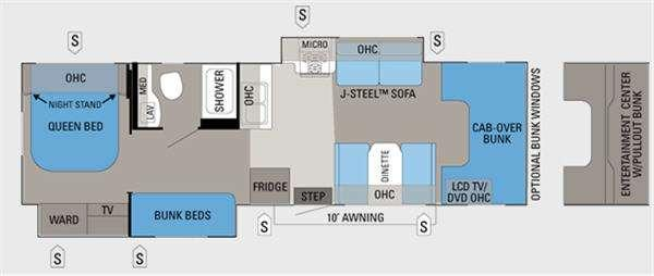 Floorplan - 2013 Jayco Greyhawk 31FS