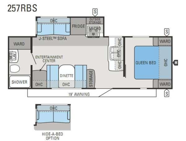 Floorplan - 2013 Jayco Eagle 257RBS