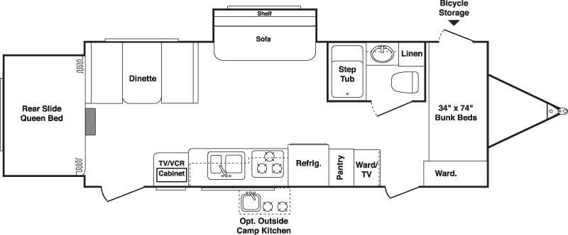 Floorplan - 2007 Keystone RV Outback 25RS-S