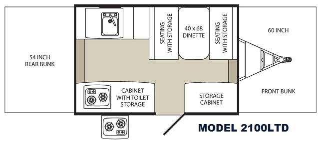 Floorplan - 2013 Palomino Tent Campers 2100 LTD