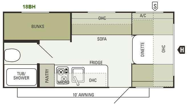 Floorplan - 2013 Starcraft  Launch 18BH
