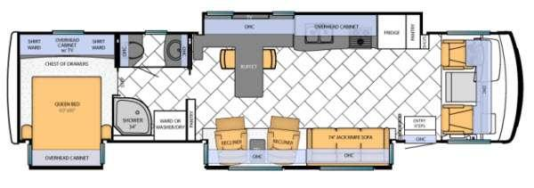 Floorplan - 2013 Newmar Canyon Star 3856