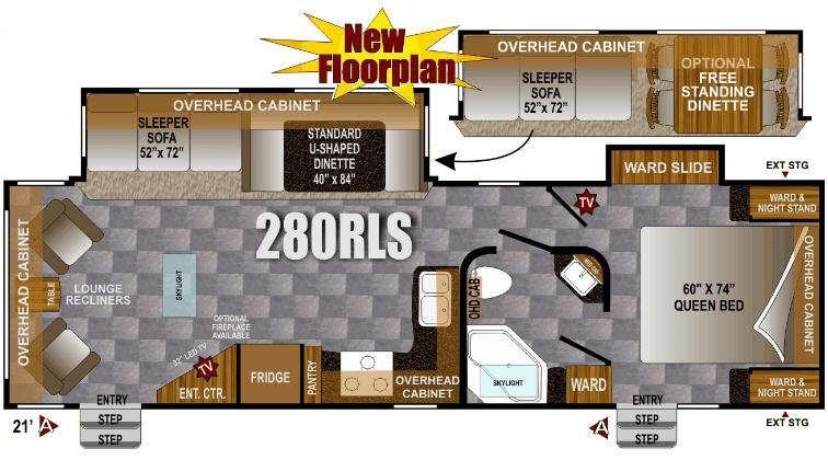 Floorplan - 2013 Outdoors RV Wind River 280RLS