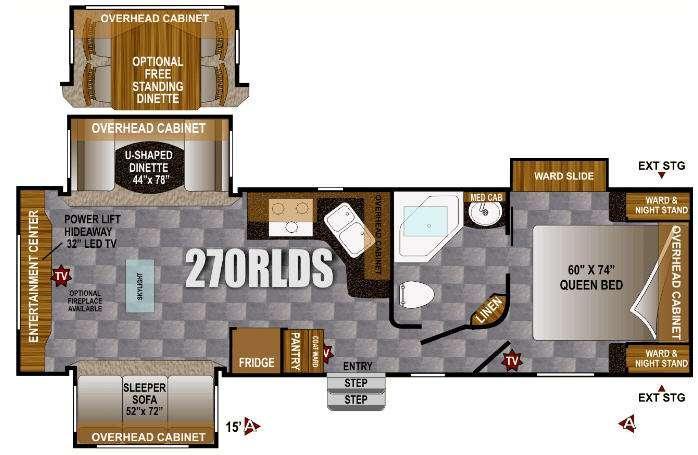 Floorplan - 2013 Outdoors RV Wind River 270RLDS