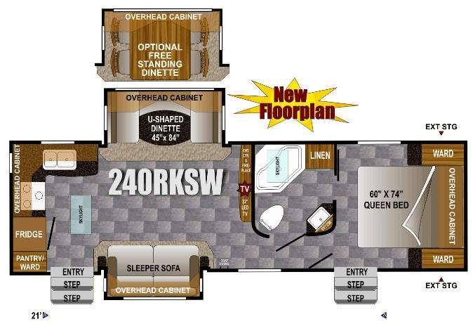 Floorplan - 2013 Outdoors RV Wind River 240RKSW