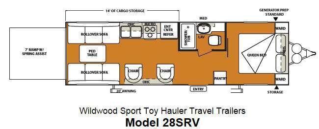 Floorplan - 2013 Forest River RV Wildwood SRV 28SRV
